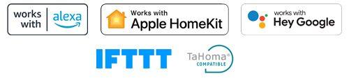 Geschikt voor: Somfy TaHoma, Apple Homekit, Amazon Alexa, Hey Google en IFTTT